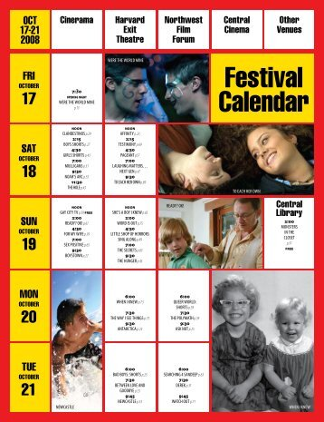 Festival Schedule - Three Dollar Bill Cinema