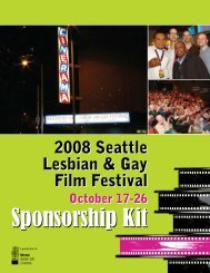 2008 Sponsorship Kit for Media Sponsors - Three Dollar Bill Cinema