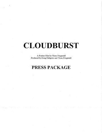 Cloudburst Press Package (pdf) - Three Dollar Bill Cinema