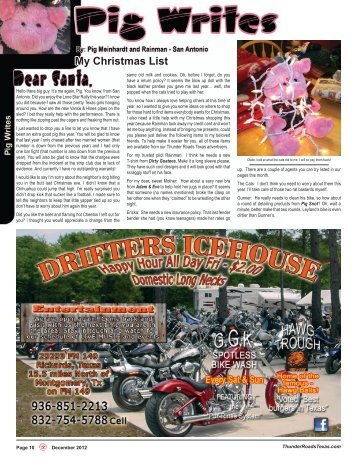 My Christmas List - Thunder Roads Texas Motorcycle Magazine