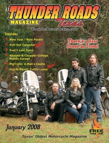 January 2008 - Thunder Roads Texas Motorcycle Magazine