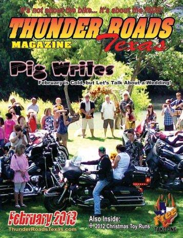 February 2013 - Thunder Roads Texas Motorcycle Magazine