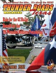 November 2012 - Thunder Roads Texas Motorcycle Magazine