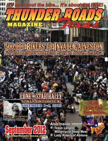 September 2012 - Thunder Roads Texas Motorcycle Magazine