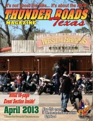 April 2013 - Thunder Roads Texas Motorcycle Magazine