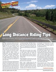 Long Distance Riding Tips - Thunder Roads Texas Motorcycle ...