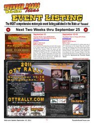 Event Listing - Thunder Roads Texas Motorcycle Magazine