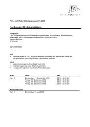 Kardiologie-/Rhythmologiekurs - Spital Tiefenau - Spital Netz Bern