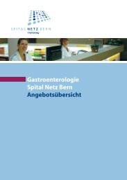 Broschüre (PDF 215 KB) - Spital Tiefenau - Spital Netz Bern