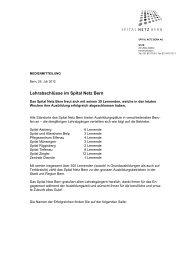 Lehrabschlüsse im Spital Netz Bern - Spital Tiefenau - Spital Netz ...