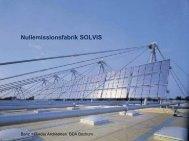 Nullemissionsfabrik SOLVIS - Initiative Arbeit und Klimaschutz