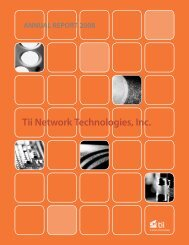 2008 Annual Report - Tii Network Technologies