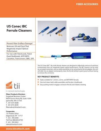 US Conec IBC Ferrule Cleaners - Tii Network Technologies
