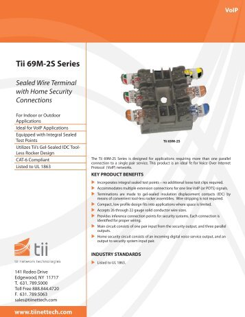 Tii 69M-2S Series - Tii Network Technologies