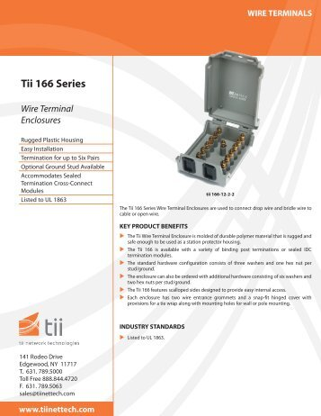 Tii 166 Series Wire Terminal Enclosures - Tii Network Technologies