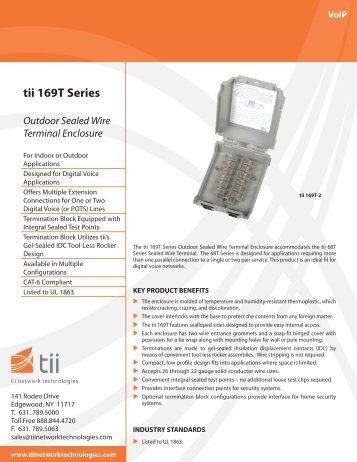 tii 169T Series - Tii Network Technologies