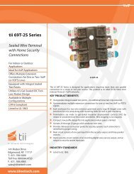 tii 69T-2S Series Sealed Wire Terminal with Home Security ...
