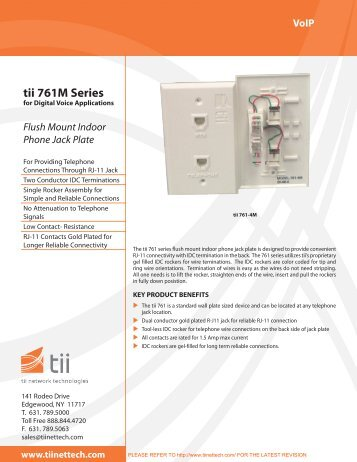 tii 761M Series - Tii Network Technologies