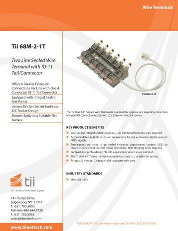 Tii 68M-2-1T - Tii Network Technologies