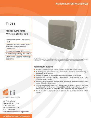 Tii 751 - Tii Network Technologies