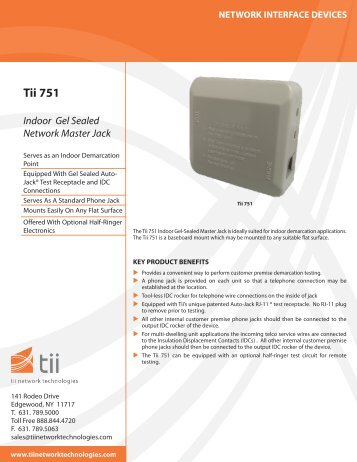 Tii 751 - Tii Network Technologies