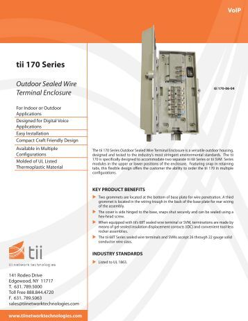 tii 170 Series - Tii Network Technologies