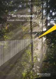 Tax transparency: Strategic challenges - Ernst & Young T Magazine