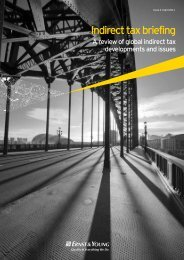 Indirect tax briefing, Issue 2, April 2011 - Ernst & Young T Magazine