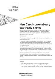 New Czech-Luxembourg tax treaty signed - Ernst & Young T Magazine