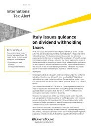 Italy issues guidance on dividend withholding taxes - Ernst & Young ...