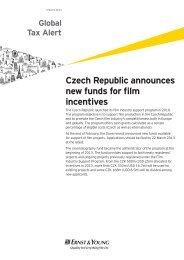 Czech Republic announces new funds for film incentives