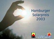 Hamburger Solarpreis 2003 - Initiative Arbeit und Klimaschutz