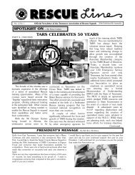 TARS.Rescue Line Vol. 11/No. 1 - Tennessee Association of ...