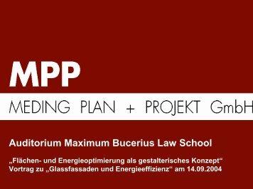 Auditorium Maximum Bucerius Law School - Initiative Arbeit und ...