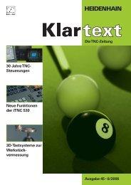 Klartext 45 - TNC 640 - DR. JOHANNES HEIDENHAIN GmbH