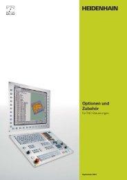Optionen und Zubehör für TNC-Steuerungen - TNC 640 - DR ...