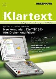 Klartext 54 - TNC 640 - DR. JOHANNES HEIDENHAIN GmbH