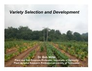Variety Selection and Development - Tobacco Info Online