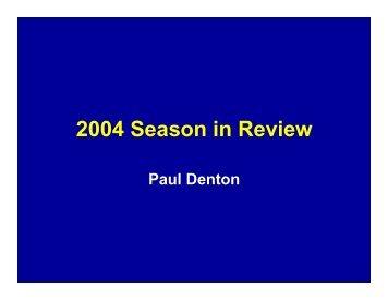 2004 Season in Review - Tobacco Info Online