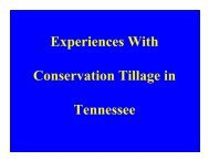 Experiences With Conservation Tillage in Tennessee - Tobacco Info ...