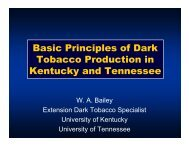 Basic Principles of Dark Tobacco Production in Kentucky and ...