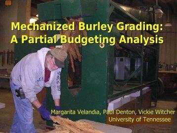 Mechanized Burley Grading - Tobacco Info Online