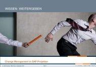 Changes durch SAP-Projekte - TOBA Team eV