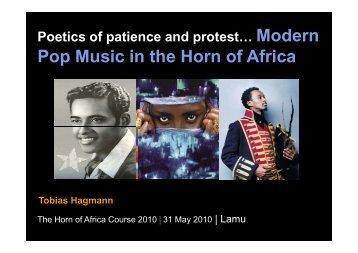 modern pop music in the Horn of Africa