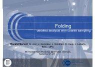 Folding - Tools for High Performance Computing 2011