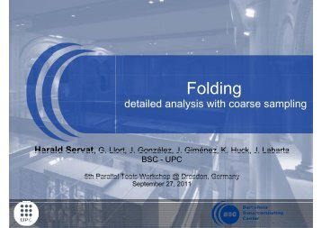 Folding - Tools for High Performance Computing 2011