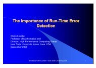 Run time error detection - Tools for High Performance Computing ...
