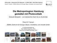 Die Metropolregion Hamburg gestaltet mit Photovoltaik