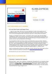 Nr. 1 / 2006 - Initiative Arbeit und Klimaschutz