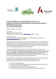 Projekt - Arbeit und Leben Mecklenburg-Vorpommern